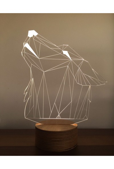 By-Lamp 3 Boyutlu Kurt Lamba Yeni