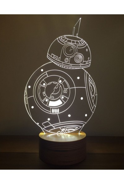 By-Lamp 3 Boyutlu Star Wars Bb-8 Lamba