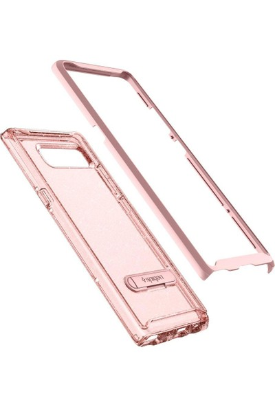 Spigen Samsung Galaxy Note 8 Kılıf Crystal Hybrid Glitter Rose Quartz - 587CS21845