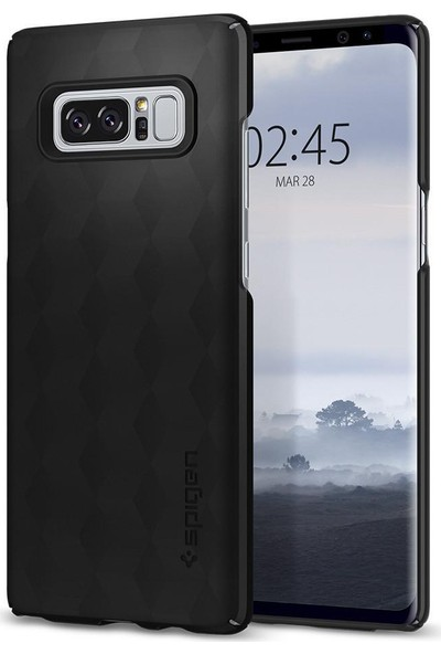 Spigen Samsung Galaxy Note 8 Kılıf Thin Fit Matte Black - 587CS22051