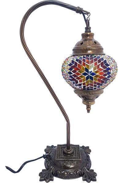 Sudamlasi Mozaik Lamba Otantik Abajur Ev si Masa Üstü Lamba Renkli Lamba