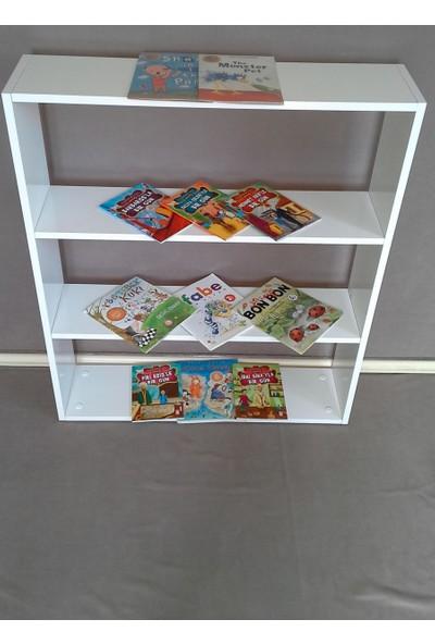 Cenker C011 Parlak Beyaz Mdf Çocuk Odası Montessori Kitaplık