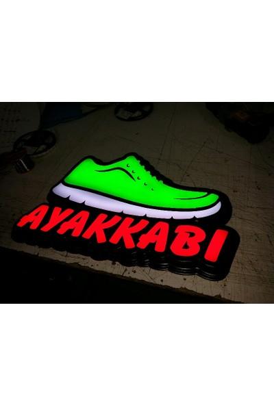 Yd Ayakkabı Tabelası - Led Işıklı Ayakkabı Tabelası