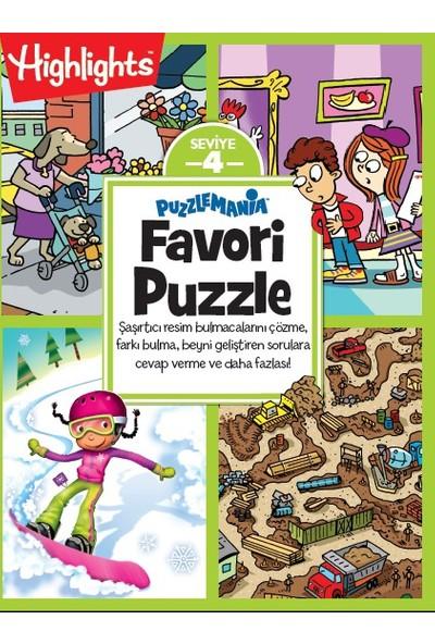 Highlights&Dikkat Atölyesi Puzzlemania Favori Puzzle 4'Lü Set (6 Yaş Ve Üzeri)