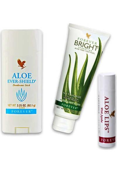 Forever Özel Set Aloe Ever Shield Deodorant Stick+Diş Macunu+Aloe Lips