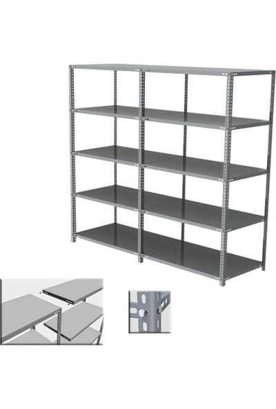 Ecgspor 10'Lu Metal Raf Sistemleri Çelik Raf Dosya Rafı Kitaplık Arşiv Rafı