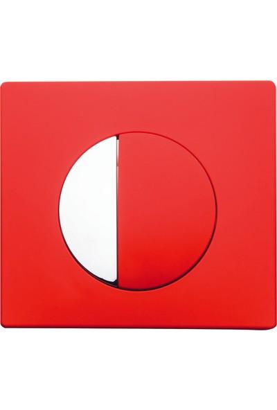 RST® MANNESMANN Gömme Rezervuar Kumanda Paneli- Media Kırmızı