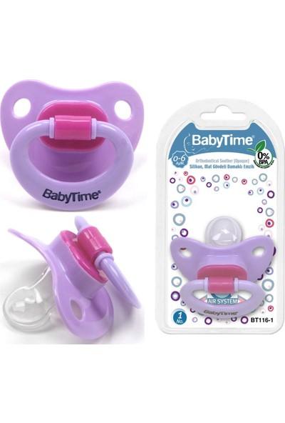 Baby Time Silikon Mat Gövdeli Damaklı Emzik N.2