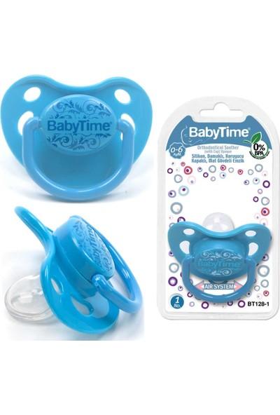 Baby Time Silikon Damaklı Kor. Kap. Mat Gövdeli Emzik N.1