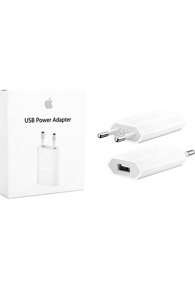 Bluerain Apple Usb Priz Şarj Adaptörü Apple iPhone X / 8 / 7 / 7 Plus / 6 / 6 Plus / 5 ( Md813Zm/A