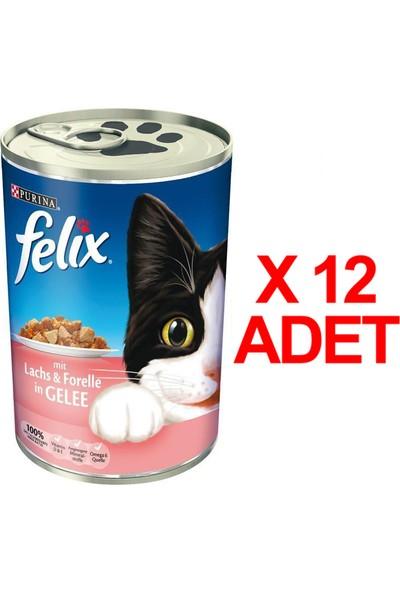 Felix Somon Alabalık Kedi Konservesi 400 Gr X 12 Adet