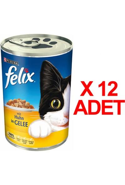Felix Tavuklu Kedi Konservesi 400 Gr X 12 Adet
