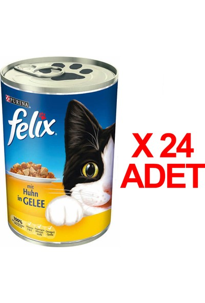 Felix Tavuklu Kedi Konservesi 400 Gr X 24 Adet