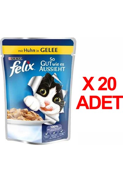 Felix Tavuklu Pouch Kedi Maması 100 Gr X 20 Adet