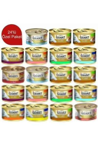 Gourmet Gold Parça Etli Ve Soslu Somonlu& Tavuklu 85 Gr 24 Adet