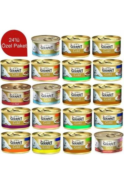 Gourmet Gold Parça Etli Ve Soslu Tavuklu& Ciğerli 85 Gr 24 Adet