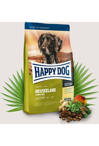 Happy Dog Neuseeland Kuzu Etli Yetişkin Köpek Maması 12,5 Kg
