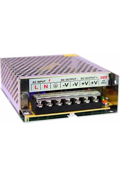 Powermaster Metal Kasa Adaptör 12V 10A