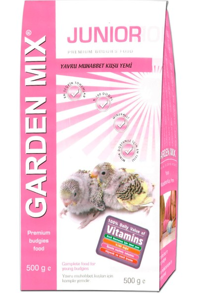 Gardenmix Junior Yavru Kuş Yemi 500 gr ( 10 Adet )