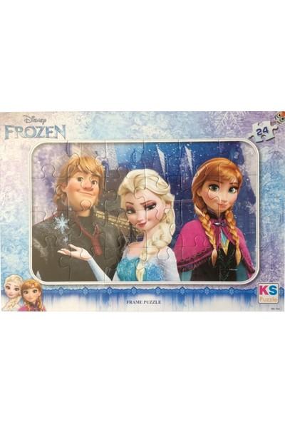 Ks Games 24 Parça Disney Frozen (Frame) Puzzle