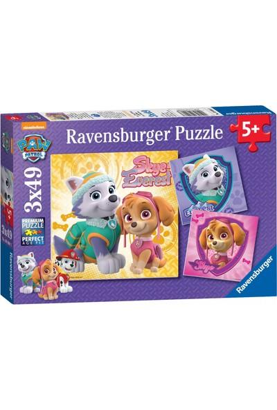 Ravensburger 3 x 49 Parça Paw Patrol Skye Puzzle