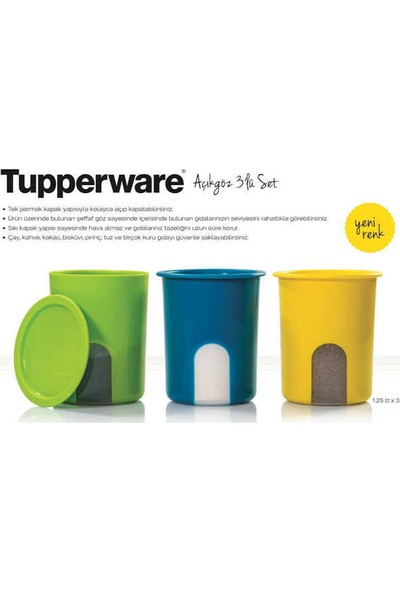 Tupperware Açıkgöz Set Set 3'lü ( 3 x 1.25 ml )