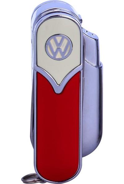 Bek Tobacco Vw T5 Logolu Puro Çakmağı-Çakı Kırmızı Bej