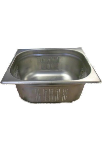 Kayalar Paslanmaz Çelik Delikli Gastronom Küvet 1/2-100
