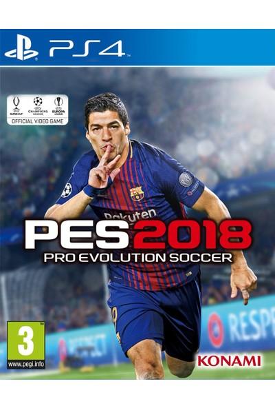 PES 2018 PS4 Oyun- Türkçe Menü