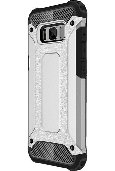 Microcase Samsung Galaxy S8+ Plus Armor Hybrid Silikon ShockProof Kılıf
