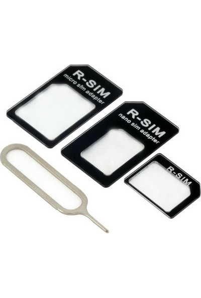 Microcase Nano Sim Micro Sim ve Normal Sim Kart Çevirici Adaptör Set