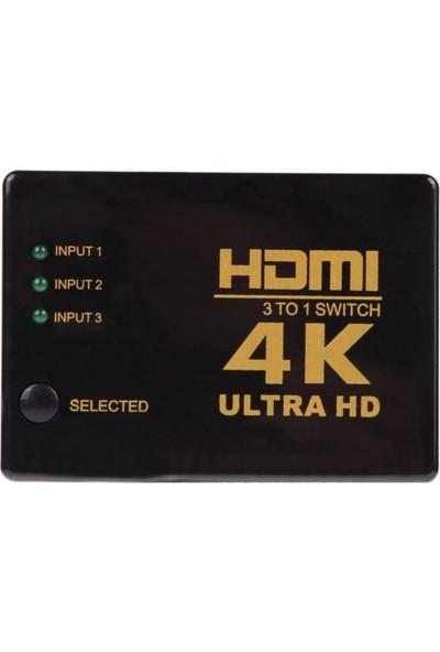Microcase 4K Ultra HD 3 in 1 Port HDMI Swich Box Hub