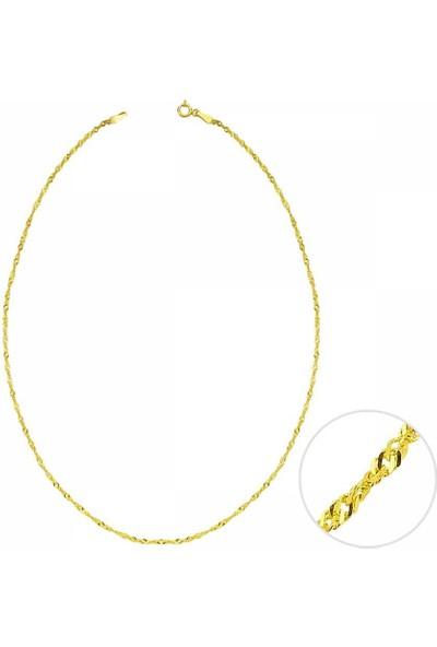 Sembolgold 40 Cm Altın Singapur Zincir 1,70Mm