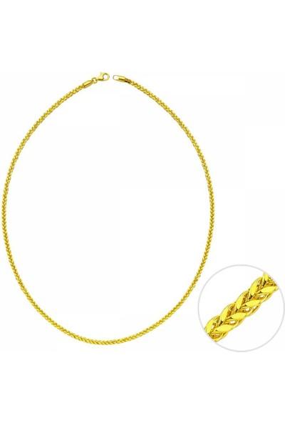 Sembolgold 50 Cm Altın Kare Spiga Zincir