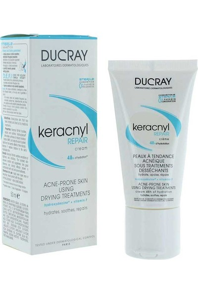 Ducray Keracnyl Repair Cream 50 Ml - Onarıcı Bakım Kremi