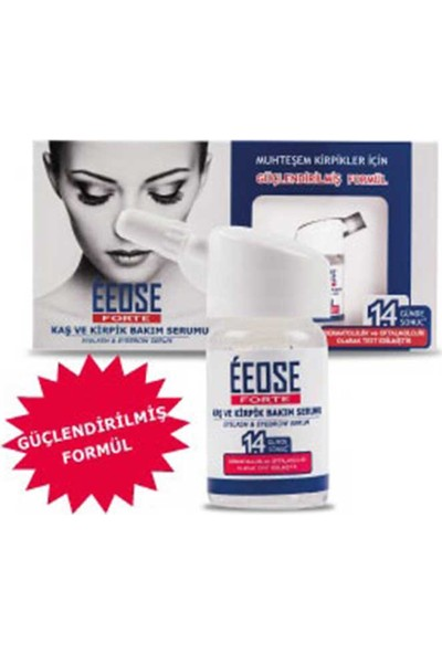 Eeose Forte Kaş Ve Kirpik Serumu (Güçlendirilmiş Formül) 10 Ml