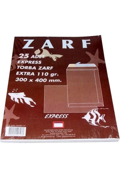 Yener Yener Express Torba Zarf Beyaz 25`Li 300X400Mm 110Gr
