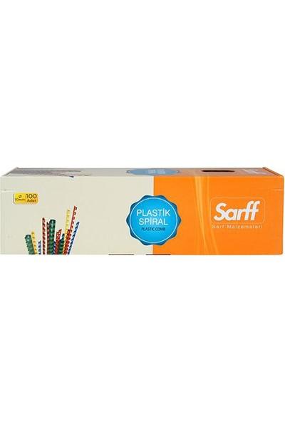 Sarff Plastik Spiral 10 Mm Beyaz 100'Lü Kutu