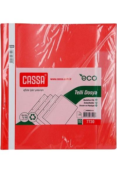 Cassa Telli Dosya Ekonomik 50'Li Paket (7730) Renk - Kirmizi