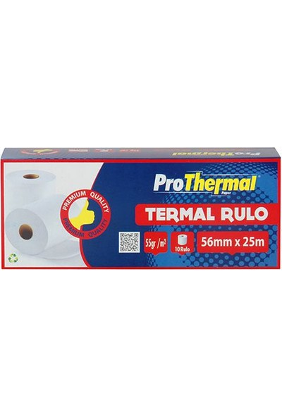 Prothermal Termal Rulo 56 Mm X 25 M 10 Adet