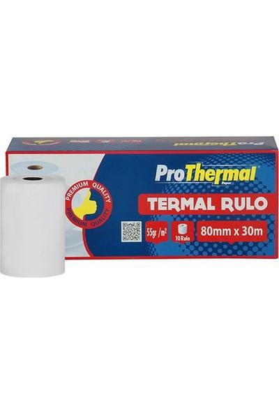 Prothermal Termal Rulo 80 Mm X 30 M 10 Adet