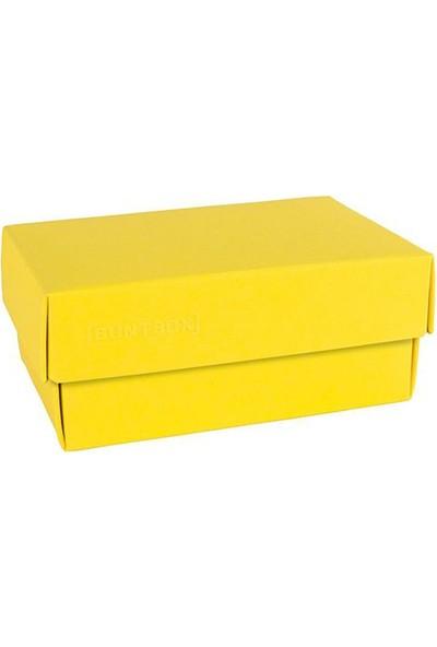 Buntbox Kapaklı Ofis Kutusu Dörtgen Sarı (L)