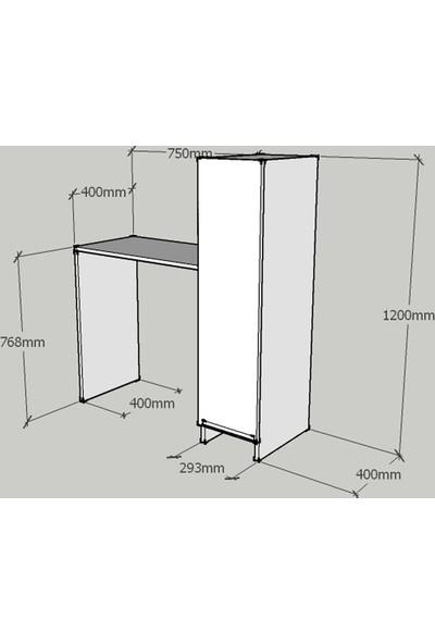 Evmodüler Raven Çalışma Masası Beyaz Beyaz x611