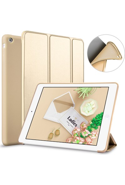 Elx Apple iPad Mini 2 3 Smart Tablet Kılıfı + 9H Temper Cam + Kalem