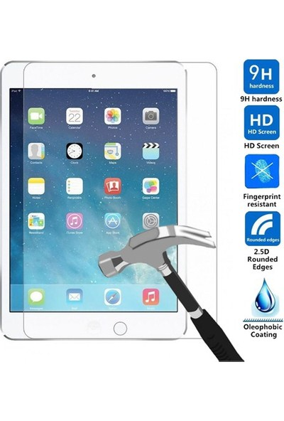 Elx Apple iPad Air 2 Smart Tablet Kılıfı + 9H Temper Cam + Kalem