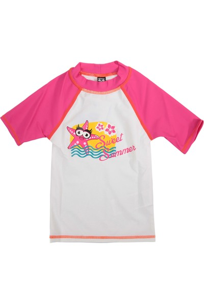 Arena Water Tribe Kids Girl Uv S/S Tee Çocuk T-Shirt