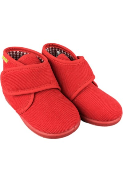 W.A.G. Çocuk Ev Ayakkabısı - Kadife 100 Kırmızı