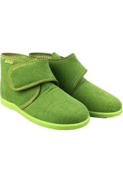 W.A.G. Çocuk Ev Ayakkabısı - Kadife 100 Yeşil