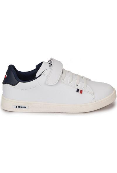 U.S. Polo Assn. Franco Beyaz Erkek Çocuk Ayakkabı