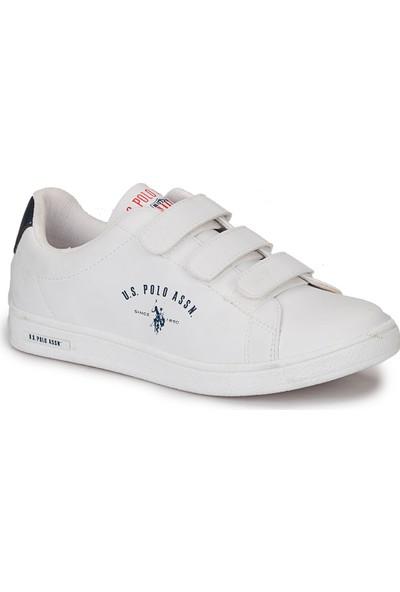 U.S. Polo Assn. Singer Beyaz Kadın Ayakkabı